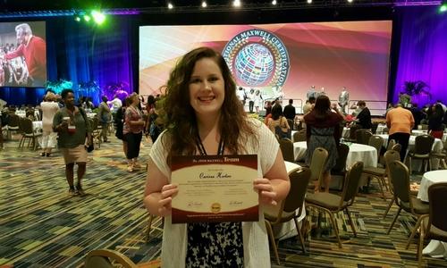 Carissa receives certificate